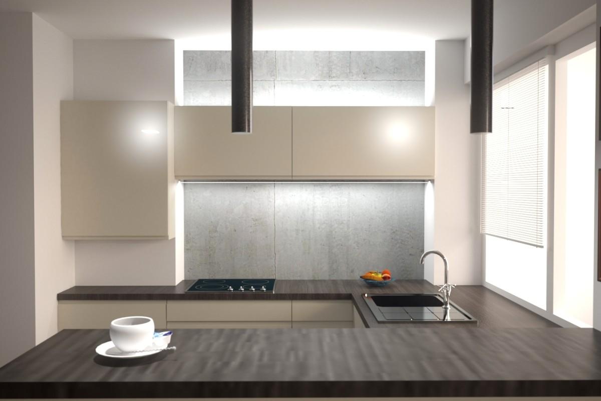 wizualizacja oświetlenia kuchni
