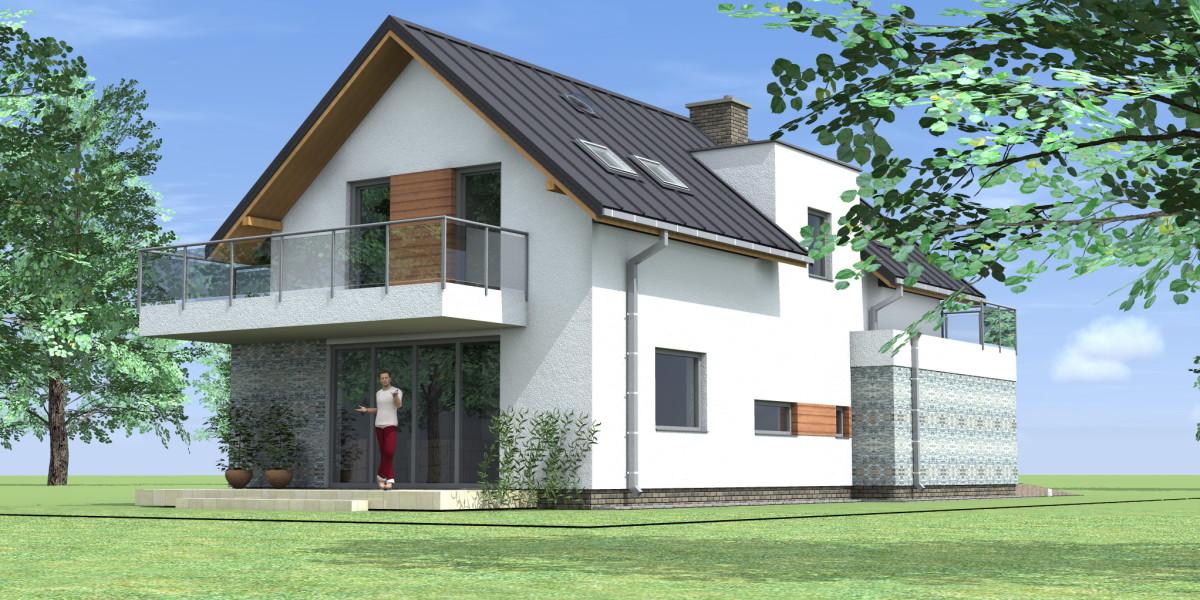 dom na wąską działkę