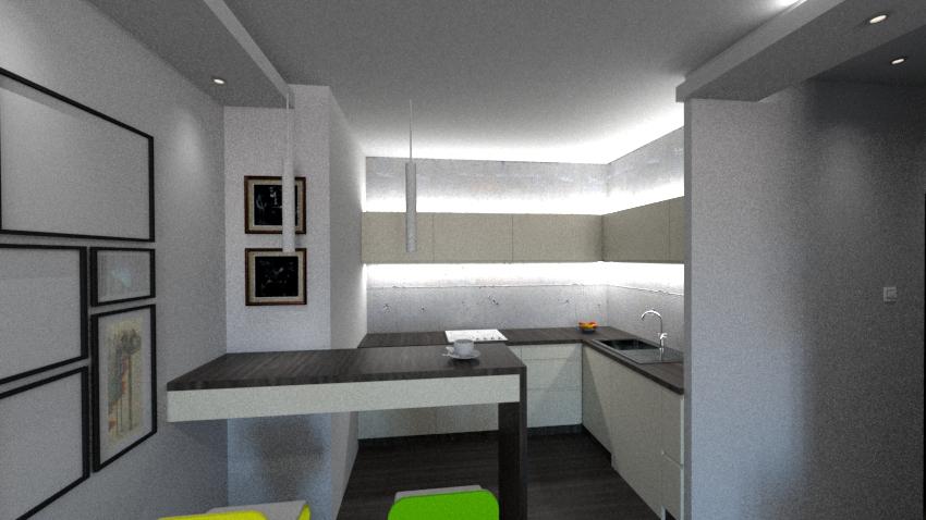 beton architektoniczny w mieszkaniu w bloku