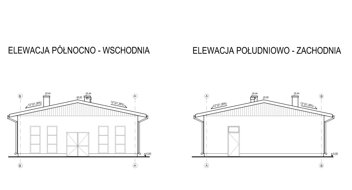 projekt zakładu stolarskiego elewacja