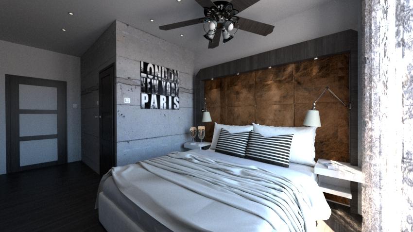Wizualizacja i projekt sypialni
