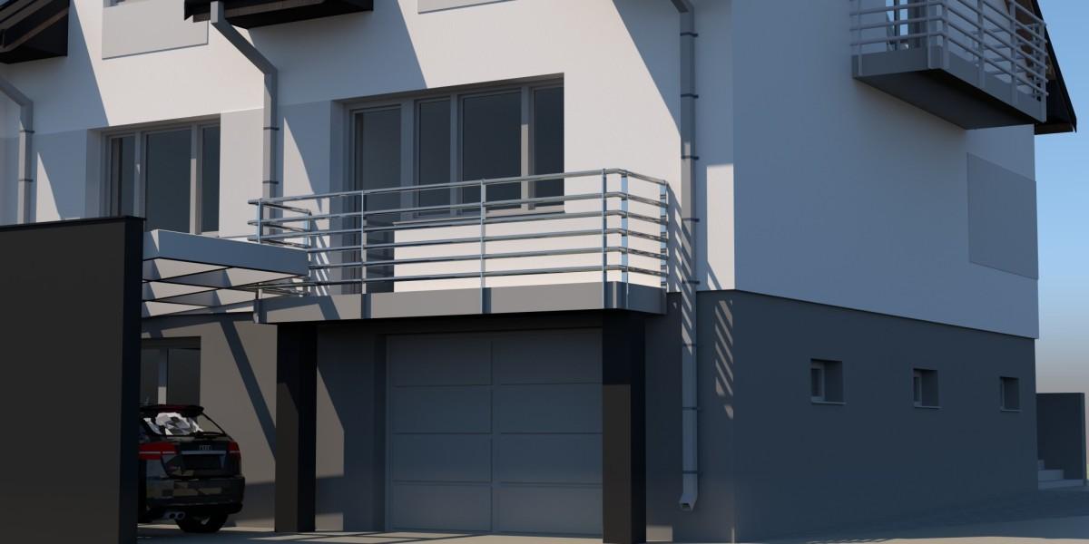 balkon i wiata samochodowa